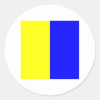 海洋の旗K ラウンドシール