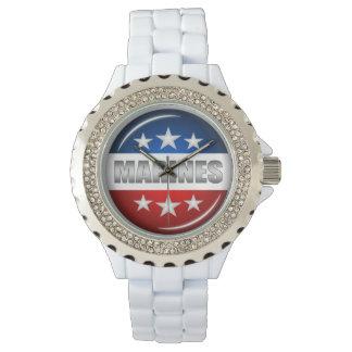 海洋の紋章のシールの記章のバッジのロゴのデザイン#2 腕時計