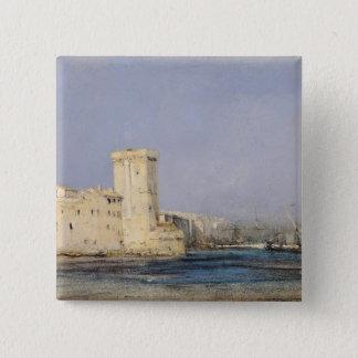 海洋の要塞、19世紀 5.1CM 正方形バッジ