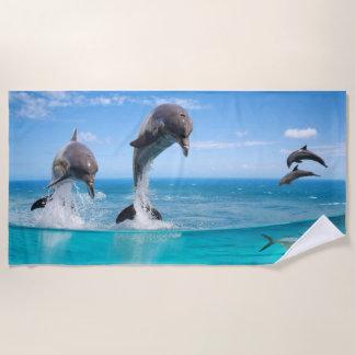 海洋の野性生物のビーチタオル ビーチタオル