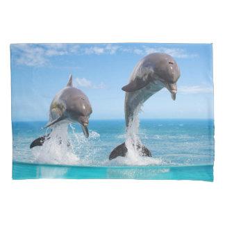 海洋の野性生物(2人の側面)の枕カバー 枕カバー
