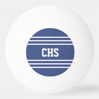 海洋の青い縞のカスタムなモノグラムの球 卓球ボール