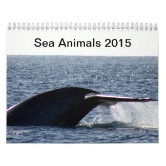 海洋動物2015年 カレンダー