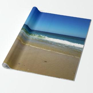海洋波および砂浜 ラッピングペーパー