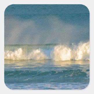 海洋波のスプレー スクエアシール