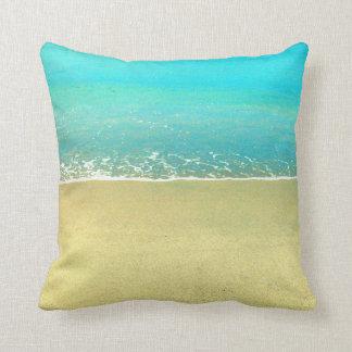 海洋波のビーチの砂の枕 クッション