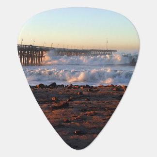 海洋波の嵐桟橋 ギターピック