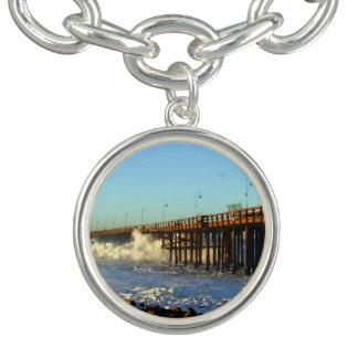 海洋波の嵐桟橋 チャームブレスレット
