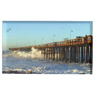 海洋波の嵐桟橋 テーブルカードホルダー