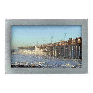 海洋波の嵐桟橋 長方形ベルトバックル