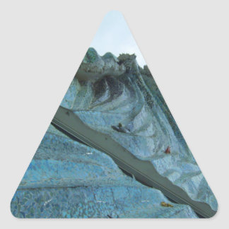 海洋波の建物の芸術 三角形シール