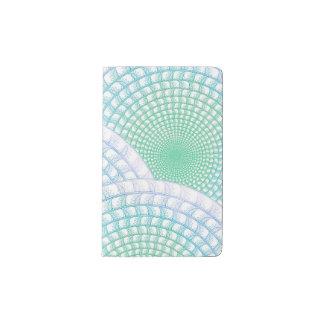 海洋波の抽象的なノート ポケットMoleskineノートブック