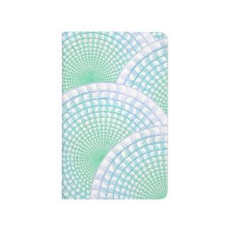 海洋波の抽象的な小型ジャーナル ポケットジャーナル