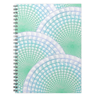海洋波の抽象芸術の螺線形ノート ノートブック