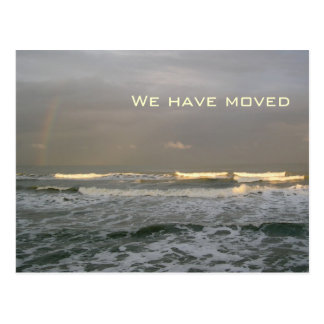 海洋波の新しい住所郵便はがき ポストカード