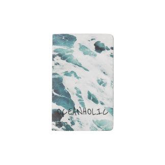 海洋波の海の自然は青海原のノートを引用します ポケットMoleskineノートブック