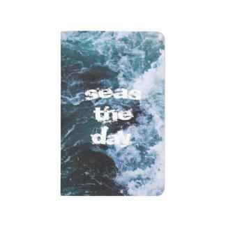 海洋波の海の青い引用文の美しくアートな本 ポケットジャーナル