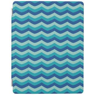 海洋波の航海のでモダンで青い海パターン iPadスマートカバー