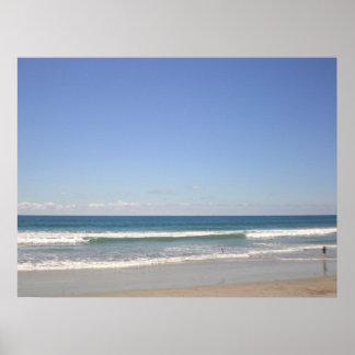 海洋波、ビーチ、オーシャンサイド ポスター
