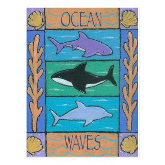 海洋波 ポストカード