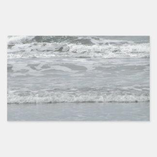 海洋波 長方形シール