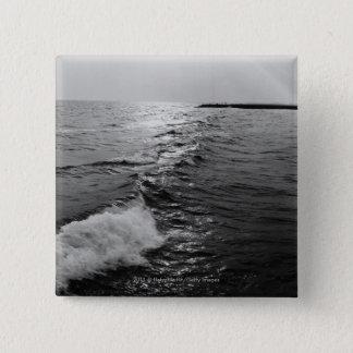 海洋波 5.1CM 正方形バッジ
