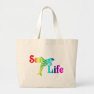 海洋生物のシャチ ラージトートバッグ