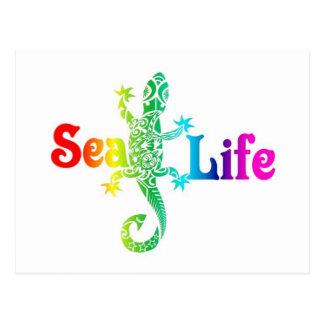 海洋生物のトカゲ ポストカード