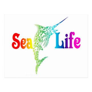 海洋生物のマカジキ ポストカード