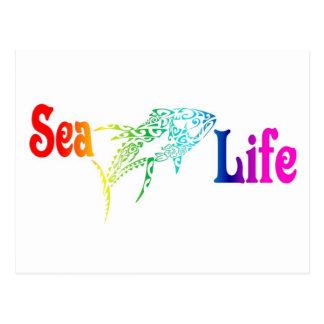 海洋生物のマグロ ポストカード