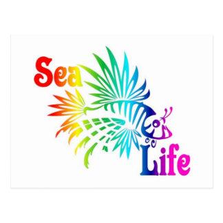 海洋生物のミノカサゴ ポストカード