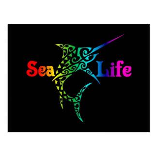 海洋生物のメカジキ ポストカード