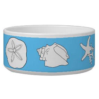 海洋生物の芸術、青い陶磁器動物食糧ボール