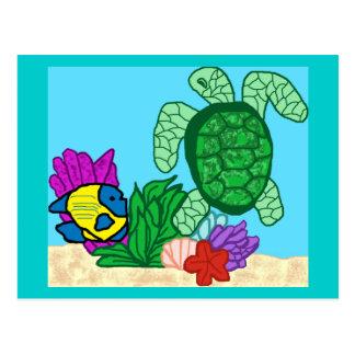 海洋生物の郵便はがき ポストカード