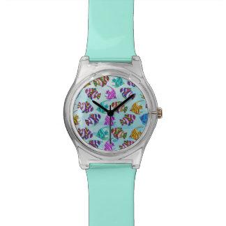 海洋生物パターン腕時計 腕時計