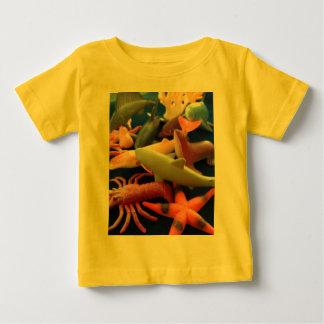 海洋生物動物のTシャツの乳児 ベビーTシャツ