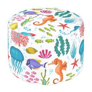 海洋生物及び動物のカラフルの絵 プーフ