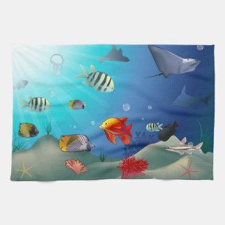 海洋生物 キッチンタオル