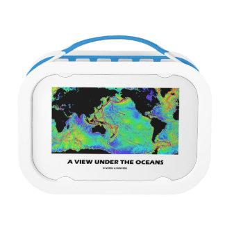 海洋(地理学の世界地図)の下の眺め ランチボックス