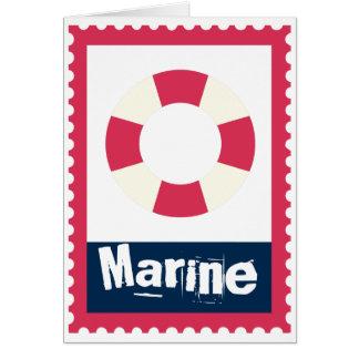 海洋-航海のな生命リング カード