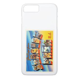 海浜公園のニュージャージーNJの古いヴィンテージの郵便はがき iPhone 7 PLUSケース