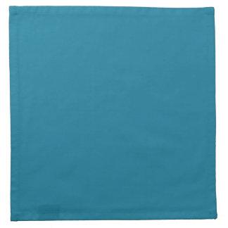 海港の青く暗いティール(緑がかった色) 2015色の傾向のテンプレート ナプキンクロス