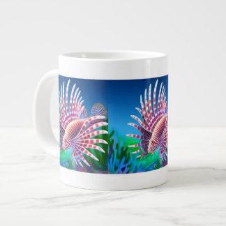 海礁のミノカサゴのマグ ジャンボコーヒーマグカップ