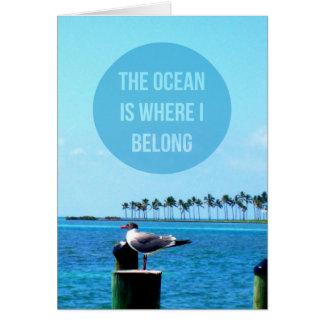 """""""海私が""""はNotecards属するところにです カード"""