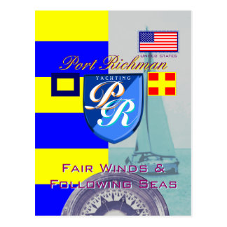海米国の後の港のRichmanの公平な風 ポストカード