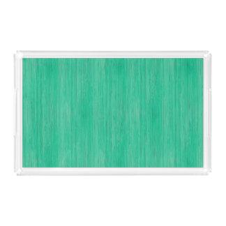 海緑のタケ木製の穀物の一見 アクリルトレー