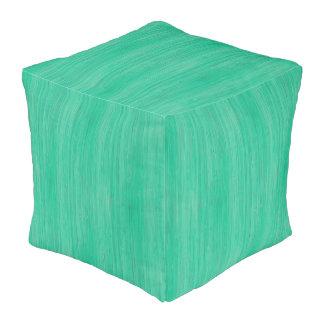 海緑のタケ木製の穀物の一見 プーフ