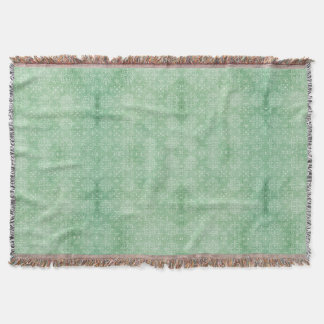 海緑のダマスク織のプリント スローブランケット