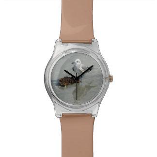 海藻を持つカモメ 腕時計
