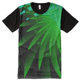 海藻3サイケデリックな抽象芸術の罰金のフラクタル オールオーバープリントT シャツ
